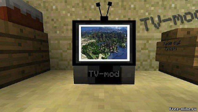 Как сделать телевизор в minecraft с модами